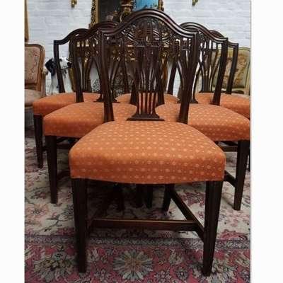 Антикварные стулья из красного дерева Стиль Гиплевиттер. в стиле Георг III, Англия, конец 18 века