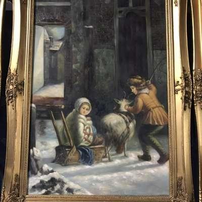 Картина в стиле Барокко Бельгия, начало 20 века