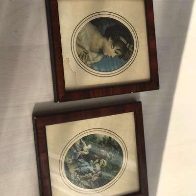 Картины 2 шт в стиле Эклектика Бельгия, середина 20 века