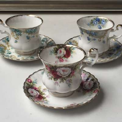 Набор чайных пар Rooyal Albert в стиле Классицизм (классика) под заказ, Англия, середина 20 века