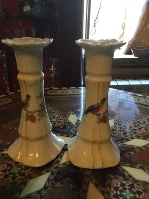 Пара керамических подсвечников в стиле Винтаж в наличии, Бельгия, середина 20 века