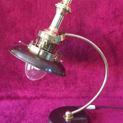 Винтажная индустриальная лампа. в стиле Индастриал под заказ, Франция, начало 20 века