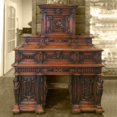 Антикварное бюро в стиле Ренессанс, Бельгия, начало 19 века