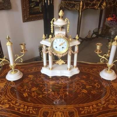 Часы каминные в стиле Барокко Бельгия, середина 20 века