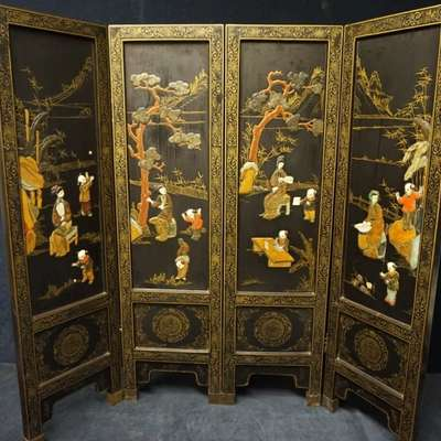 Ширма четырехстворчатая. в стиле Шинуазри, Китай, начало 20 века