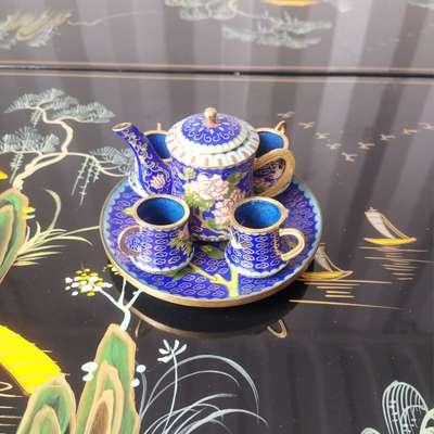 Чайный сервиз в стиле Шинуазри, Франция, конец 20 века