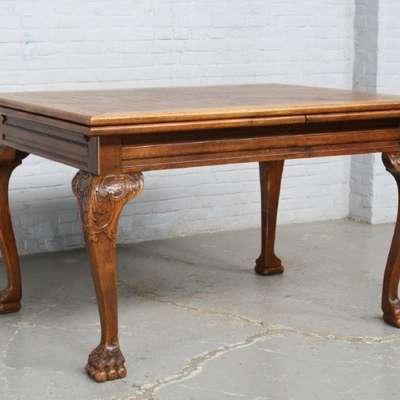 Стол обеденный в стиле Чиппендейл под заказ, Бельгия, начало 20 века