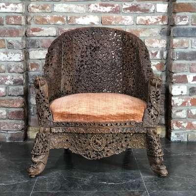 Кресло в стиле Восточный, Голландия, конец 19 века