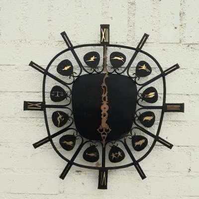 Часы настенные винтаж в стиле Винтаж, Германия, конец 20 века