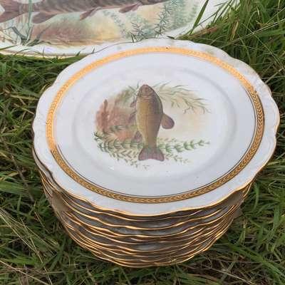 Набор тарелок в стиле Классицизм (классика) Бельгия, начало 20 века