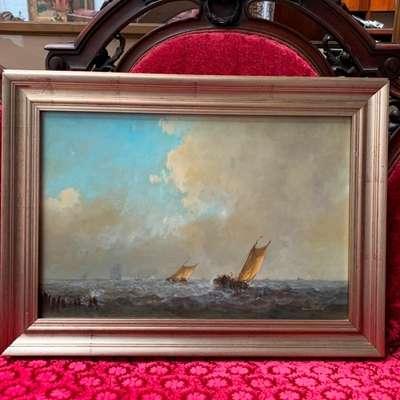 Frans van der Heide (1936-1999). Картина «Морской пейзаж». в стиле Классицизм (классика), Голландия, середина 20 века