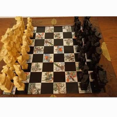 Шахматы резные в полном комплекте. в стиле Древний, Китай, середина 20 века