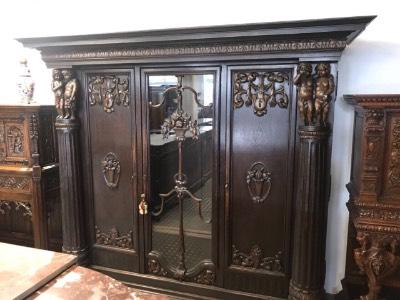 Шкаф в стиле Ренессанс, Бельгия, начало 20 века
