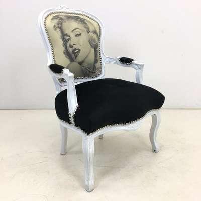 Винтажное кресло в стиле Луи Филипп Бельгия, середина 20 века