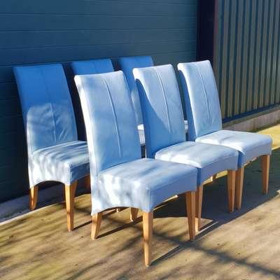 6 стульев из натуральной кожи в стиле Модерн Бельгия, начало 21 века