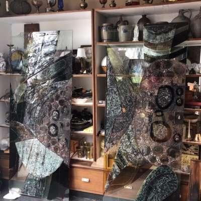 Набор стеклянных дизайнерских дверей в стиле Авангард Голландия, конец 20 века