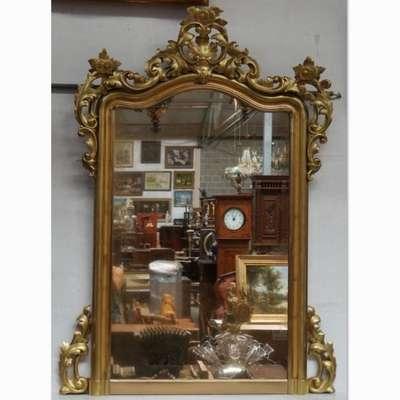 Антикварное золоченое зеркало. в стиле Барокко, Франция, середина 19 века