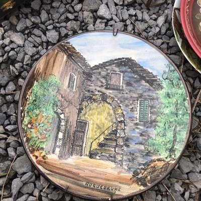 """Тарелка """"Дом"""" в стиле Винтаж, Франция, середина 20 века"""
