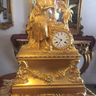 Часы каминные в стиле Барокко Франция, начало 19 века