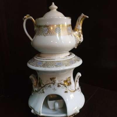 Чайник на подставке в стиле Барокко, Франция, конец 19 века