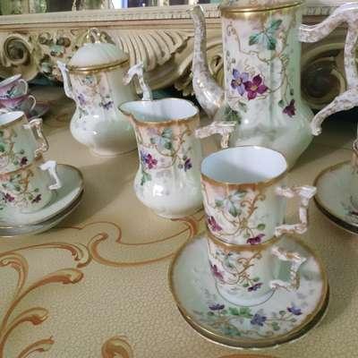 Сервиз чайный в стиле Барокко Бельгия, конец 19 века