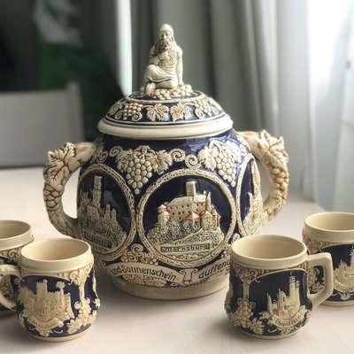 Набор 5 предметов в стиле Винтаж Бельгия, середина 20 века