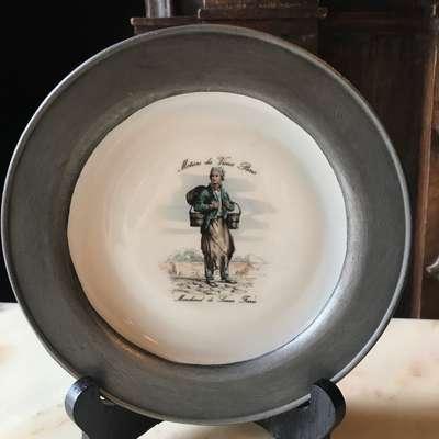 Декоративная тарелка в стиле Классицизм (классика) Франция, середина 20 века