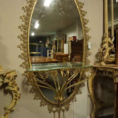 Консоль с зеркалом в стиле Барокко под заказ, Бельгия, середина 20 века