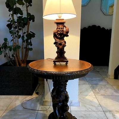 Настольные лампы пара в стиле Ренессанс, Франция, конец 19 века