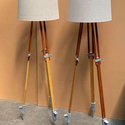 Пара винтажных ламп. в стиле Винтаж, Бельгия, середина 20 века