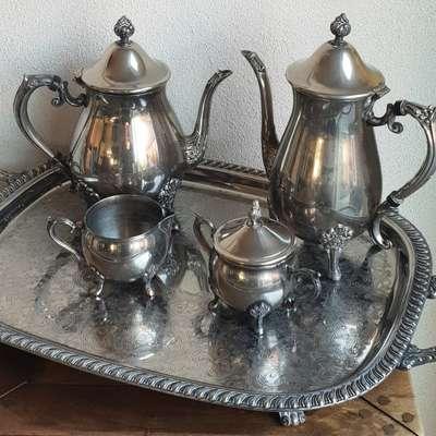 кофейный/чайный сервиз из 5-ти предметов Италия в стиле Винтаж Италия, середина 20 века