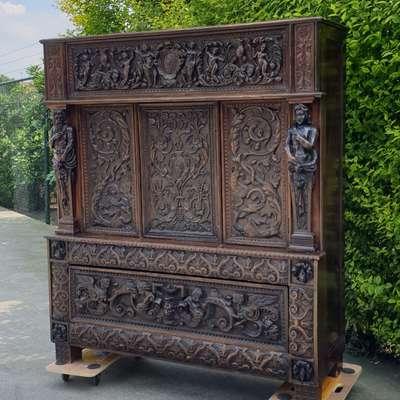 креденс кабинетный в стиле Неоренессанс, Франция, середина 18 века