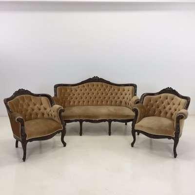 Мягкая мебель 3/1/1 в стиле Нео Рококо Бельгия, середина 20 века