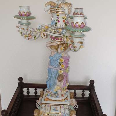Подсвечник фарфор в стиле Барокко, Германия, середина 20 века