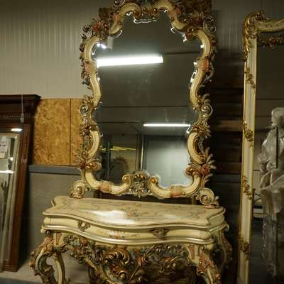 Зеркало с консолью в стиле Барокко под заказ, Бельгия, середина 20 века