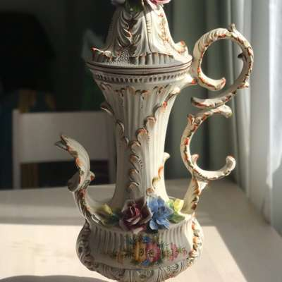 Кувшин фарфор в стиле Барокко Италия, середина 20 века