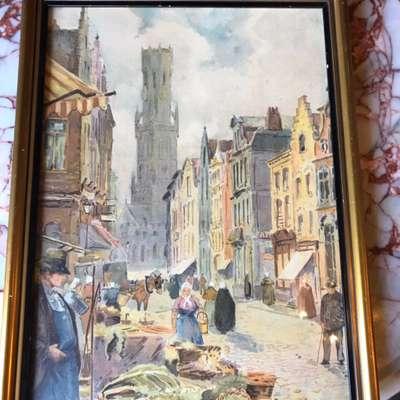 Картина в стиле Барокко в наличии, Бельгия, середина 20 века