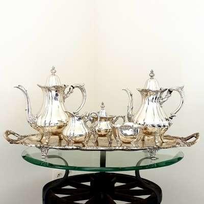 Чайно-кофейный сервиз в стиле Барокко, США, начало 20 века