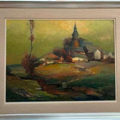 Живопись. в стиле Импрессионизм, Бельгия, середина 20 века