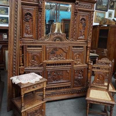 Спальня в бретонском стиле в стиле Бретонский Франция, конец 19 века