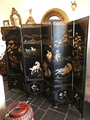 Ширма в стиле Шинуазри в наличии, Китай, середина 20 века