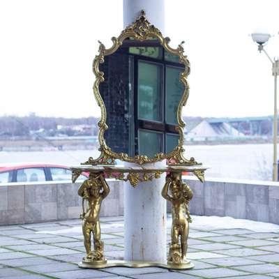 Консоль с зеркалом в стиле Барокко, Италия, конец 20 века