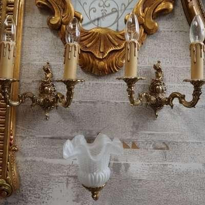 Три настенных бра. в стиле Барокко Бельгия, середина 20 века