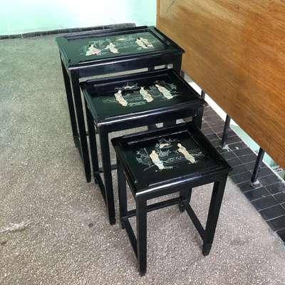 Набор столиков в стиле Шинуазри, Бельгия, начало 20 века