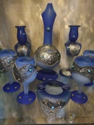 Набор фужеров синее стекло в стиле Эклектика Голландия, середина 20 века