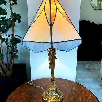 Настольная лампа Тиффани в стиле Тиффани, Бельгия, начало 20 века