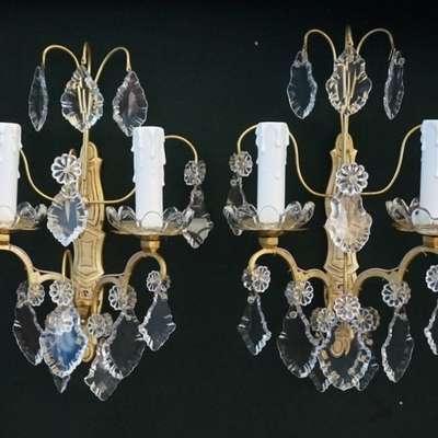 Пара старинных настенных бра. в стиле Людовик XVI Франция, середина 19 века