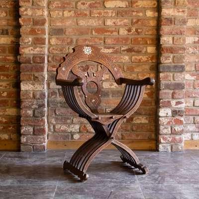 Курульное кресло. в стиле Восточный, Бельгия, конец 19 века