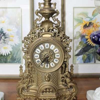 Часы бронзовые. в стиле Рококо Людовик XV Германия, середина 20 века