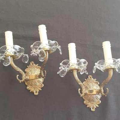 Бра бронзовые в стиле Барокко Бельгия, начало 20 века